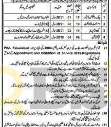 Parks & Horticulture Authority Faisalabad Jobs 2017 For Public Relation Officer