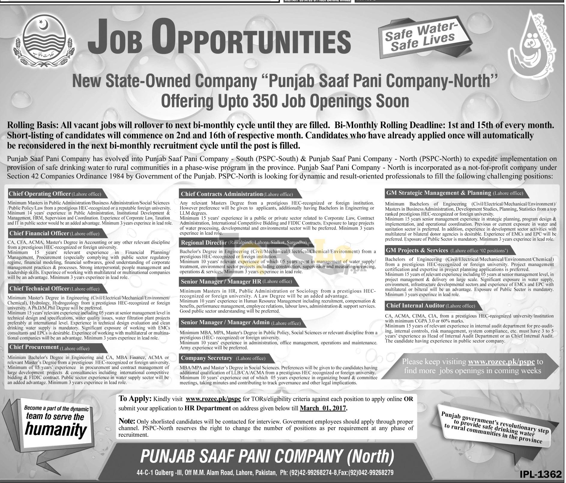 PSPC Punjab Jobs