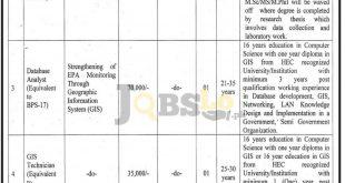 Environmental Protection Agency Peshawar Jobs