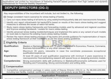 State Bank of Pakistan Karachi Jobs 2017 Current February Advertisement