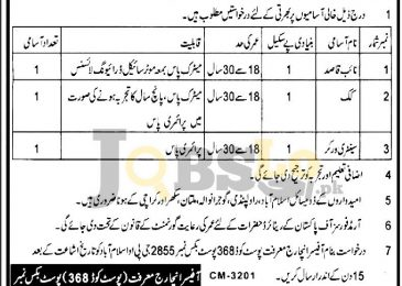 PO Box 2855 Islamabad Jobs 2018 Government Vacancies for 10th Pass