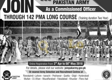 joinpakarmy.gov.pk 142 PMA Long Course Registration Online 2018