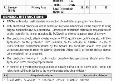 National Counter Terrorism Authority Jobs 2018 Form Download | www.nacta.gov.pk