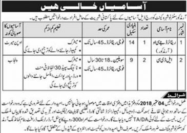 Armoured Corps Centre Nowshera Jobs 2018 Pak Army Latest Vacancy