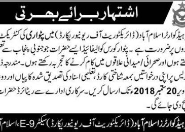 Air Headquarters Islamabad Jobs 2018 Latest For Patwari