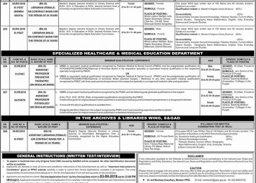 PPSC Jobs 2018 in Punjab Latest Advertisement Apply Online