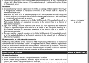 Pakistan Institute of Fashion  and Design PIFD Jobs 2018 Lahore Latest