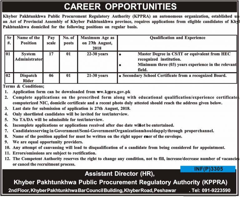 KPPRA Jobs Application Form Download 2018 Online Latest Vacancies