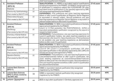 Ayub Teaching Hospital jobs 2018 ATH Abbottabad For Faculty Staff