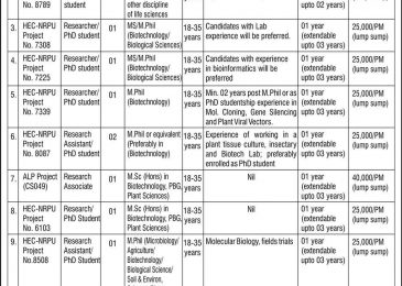 NIBGE Jobs 2018 Faisalabad Latest Career Opportunities Walk For Interview Notice