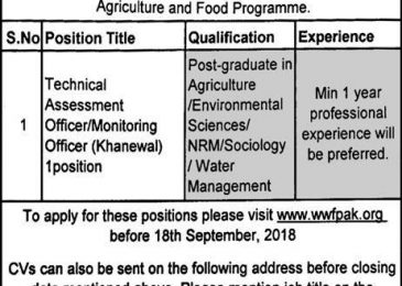 WWF Pakistan jobs 2018 apply online | www.wwfpak.org