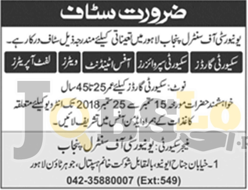 UCP-University of Central Punjab Lahore Jobs 2018 Walk For Interview Date & Time