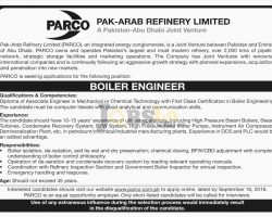 Pak-Arab Refinery Limited PARCO Jobs 2019 Apply Online For Business Analyst