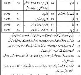 Jobs in Municipal Committee Attock September 2018 For Driver & Chowkidar