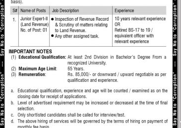 NAB Jobs 2018 Balochistan Application Form Download For Junior Expert II