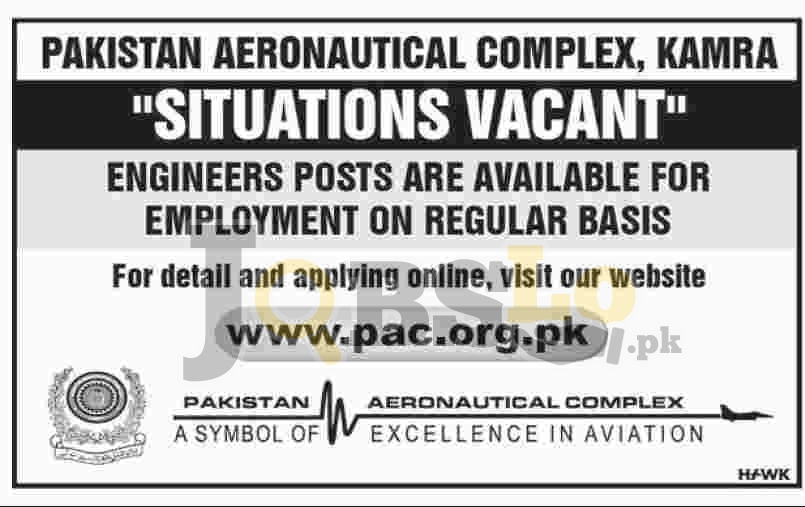 PAC Kamra Jobs 2018 Application Form Pakistan Aeronautical Complex Latest Vacancies