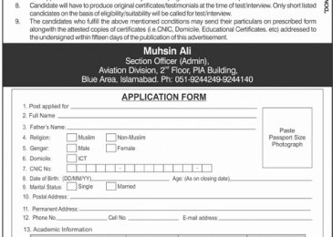 Cabinet Secretariat Jobs 2018 Government of Pakistan Application Form Download