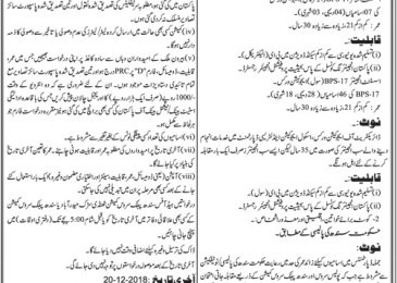 SPSC Jobs Nov 2018 School Education and Literacy Department Sindh Latest
