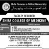 Shifa Tameer e Millat University Islamabad Jobs 2018 STMU in Pakistan Latest