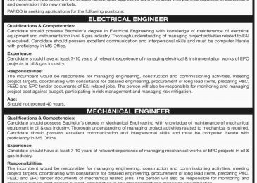 PARCO Jobs 2018 Abu Dhabi Apply Online For Electrical/Mechanical Engineer