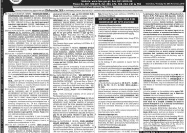 FPSC Jobs Dec 2018 Apply Online Latest Advertisement