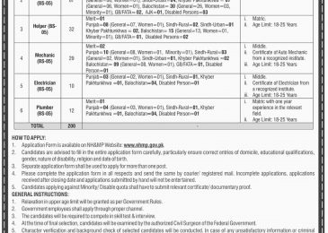 Motorway Police Jobs 2019 in Pakistan Application Form | www.nhmp.gov.pk