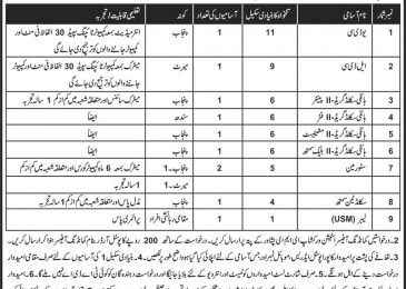Station Workshop EME Peshawar Jobs 2018 Current Vacancies