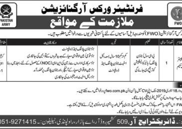FWO Frontier Works Organization Jobs 2019 Online application form