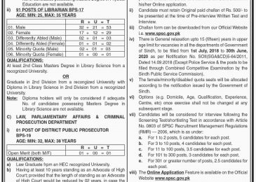 SPSC Jobs 2019 in Pakistan | Sindh Public Service Commission