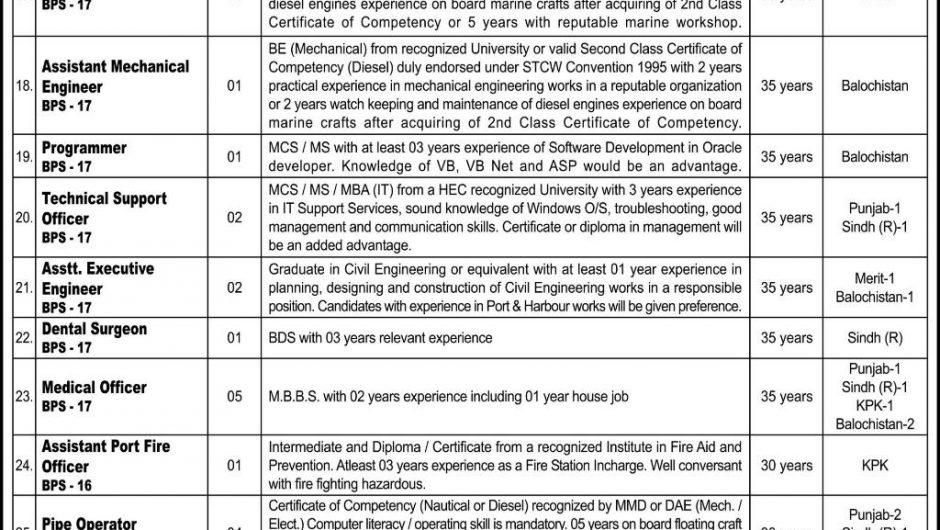 KPT Jobs 2019 Karachi PTS Application Form Download | Karachi Port Trust