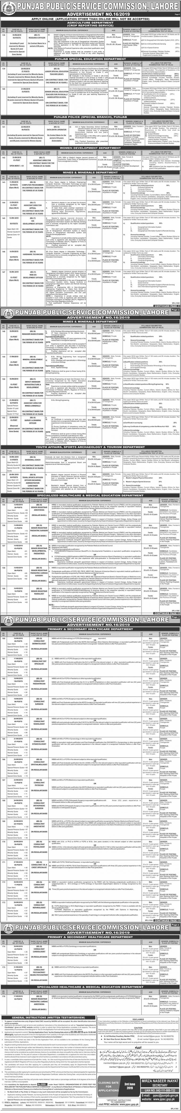 PPSC Punjab Police Jobs 2019 Apply Online Latest | www.ppsc.gop.pk