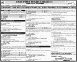 SPSC Health Department Jobs 2019 Apply Online Latest Advertisement