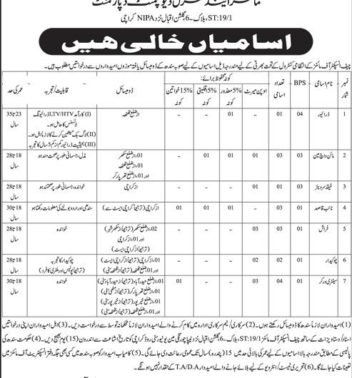 Mines & Mineral Development Department Govt of Sindh Jobs June 2019 Latest Advertisement