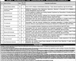 Punjab Emergency Service Rescue 1122 Jobs 2019 NTS Application Form Download Test Pattern Result