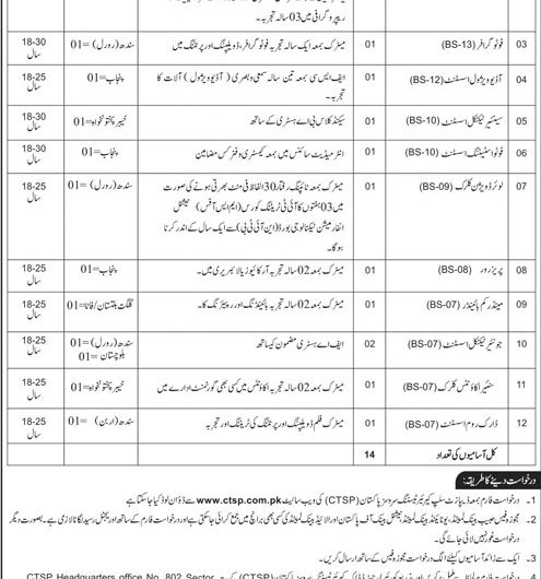 National Archives of Pakistan Jobs Application Form Download 2019 CTSP Online