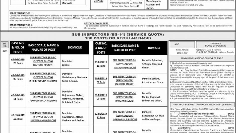 Home Department Govt of Punjab Jobs 2019 Via PPSC Apply Online Latest